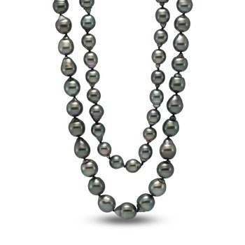 Drop Baroque Shape Tahitian Pearl Strand Necklace
