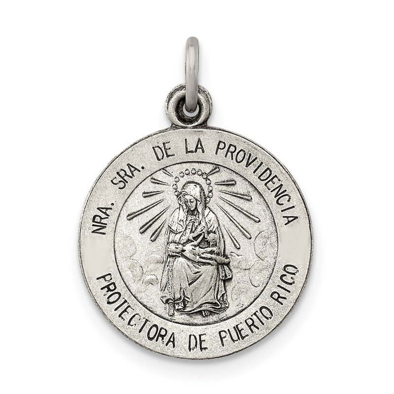 Quality Gold Sterling Silver Antiqued De La Providencia Medal