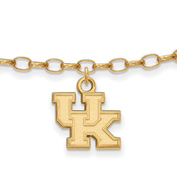 Gold-Plated Sterling Silver University of Kentucky NCAA Bracelet