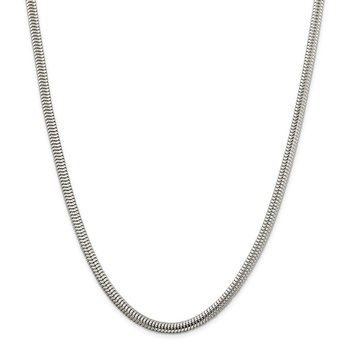 Sterling Silver 5mm Round Snake Chain