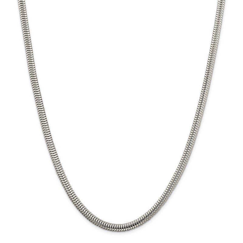 Quality Gold Sterling Silver 5mm Round Snake Chain