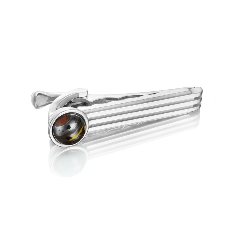 Tacori Fashion Racing Tie Bar featuring Tiger Iron