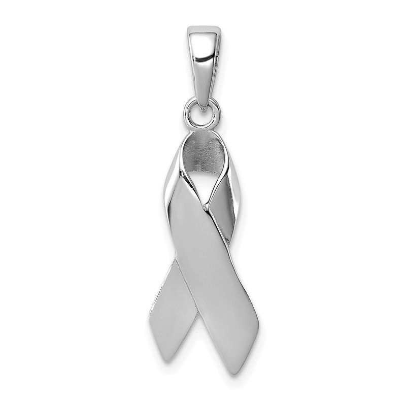 Fine Jewelry by JBD Sterling Silver Cancer Awareness Ribbon Charm