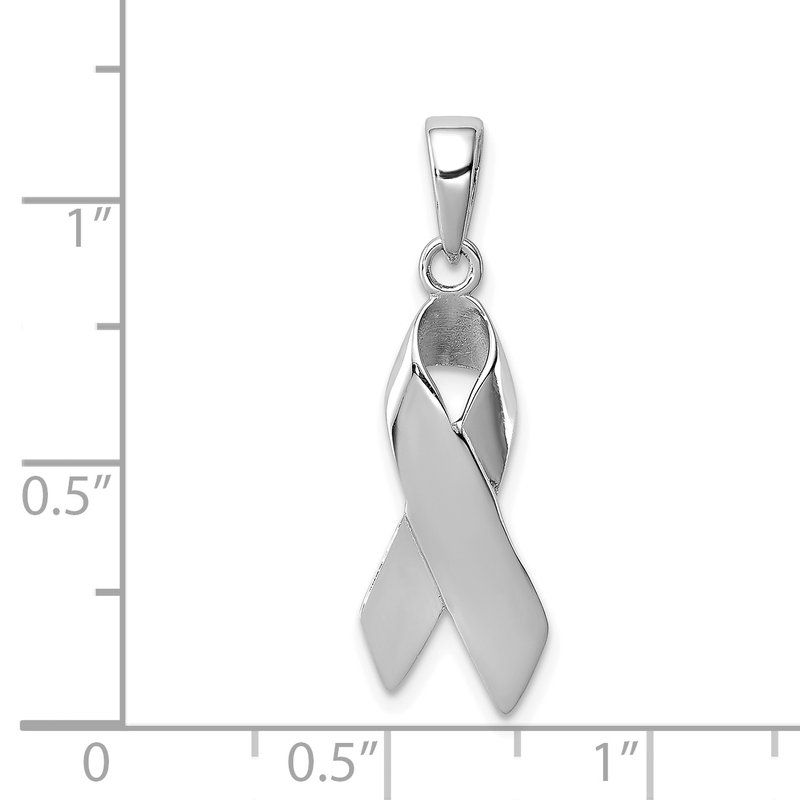 Quality Gold Sterling Silver Cancer Awareness Ribbon Charm