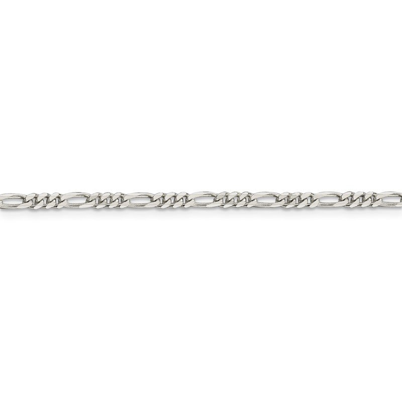 Quality Gold Sterling Silver 2.85mm Figaro Chain Anklet