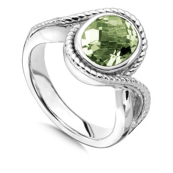 Sterling Silver & Green Amethyst Ring