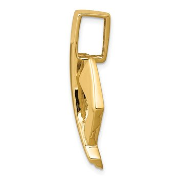 14k Two-Tone Fits up to 6mm Regular/8mm Fancy/Reversible Omega Slide