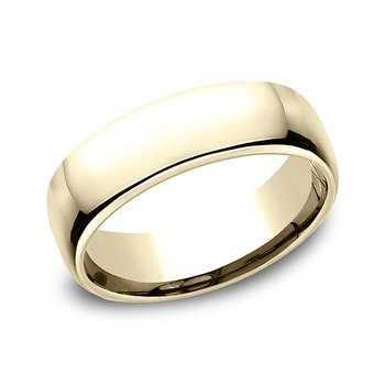 14K Yellow Gold 6.5mm  European Comfort-Fit™ Ring