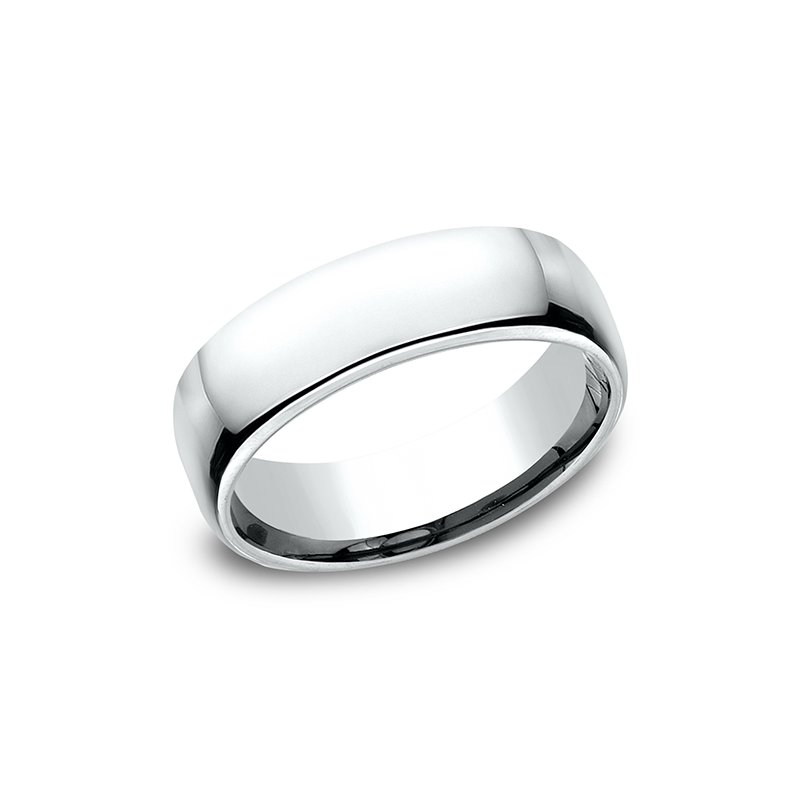 Benchmark European Comfort-Fit Wedding Ring