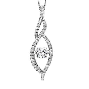 14K Diamond Rhythm Of Love Pendant 3/8 ctw