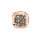 Roberto Coin 18Kt Gold Large Ring With Brown Diamonds