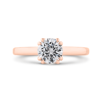 18K Rose Gold Solitaire Engagement Ring (Semi-Mount)