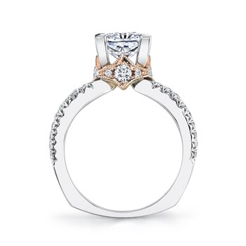 R255 Diamond Engagement Ring, 0.70 Ctw.