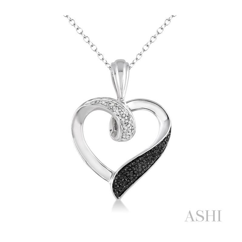 Barclay's Signature Collection SILVER HEART SHAPE DIAMOND PENDANT