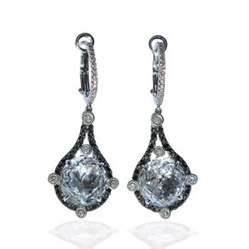 Midnight Rocks Topaz Earrings