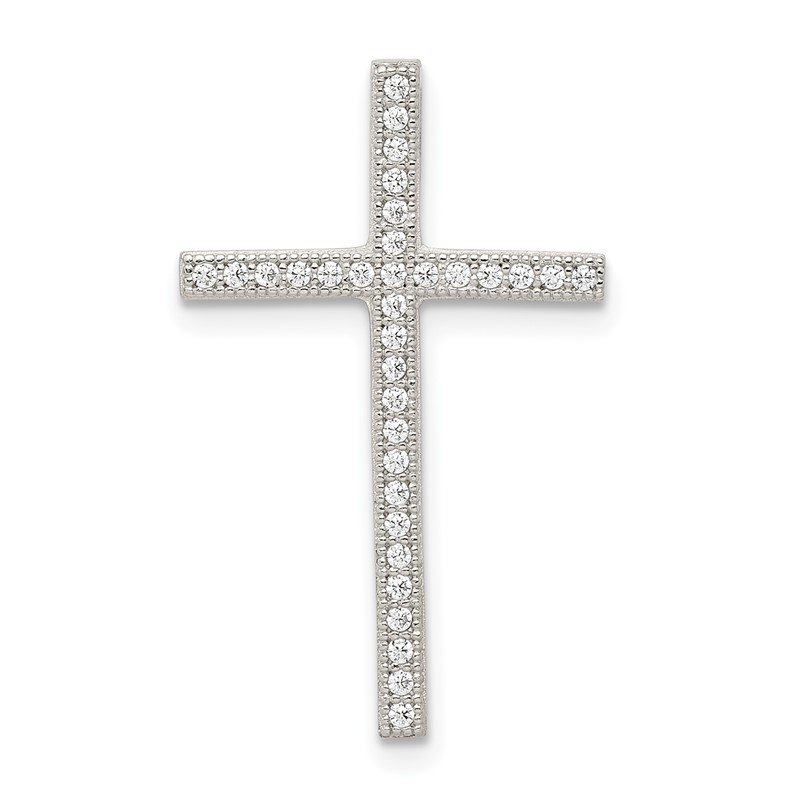 Quality Gold Sterling Silver Micro Pav? Cross Pendant