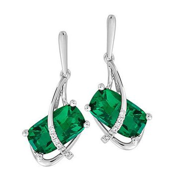 Emerald Earrings-CE4264WEM