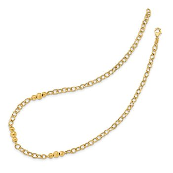 14K Brushed & Polished Fancy Link Necklace