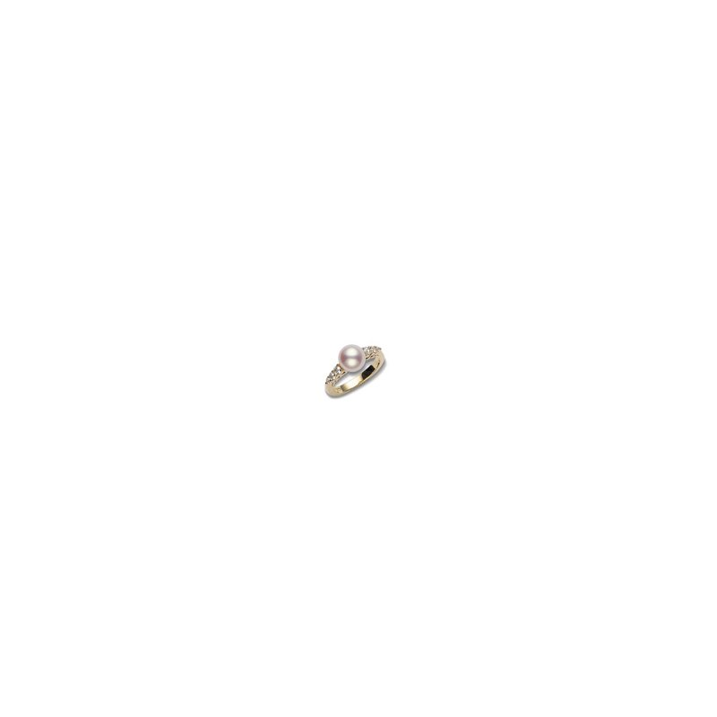 e32e32484 Mikimoto Morning Dew Akoya Cultured Pearl Ring. Stock # PRA538DK