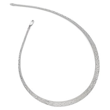 Leslie's Sterling Silver Graduate Diamond-cut Fancy Necklace