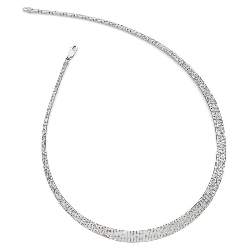 Leslie's Leslie's Sterling Silver Graduate Diamond-cut Fancy Necklace