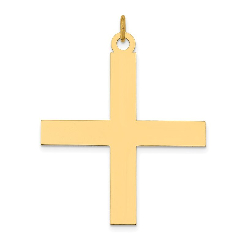 Quality Gold 14K Laser Designed Greek Cross Pendant