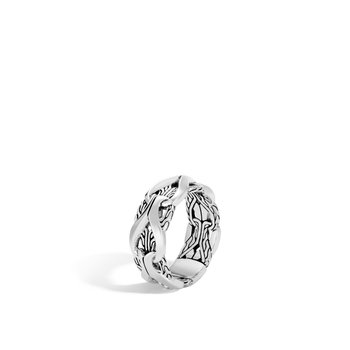 Asli Classic Chain Link 13MM Band Ring in Silver