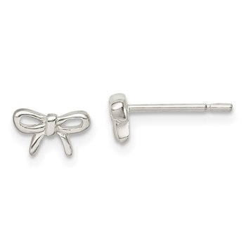Sterling Silver Madi K Bow Post Earrings