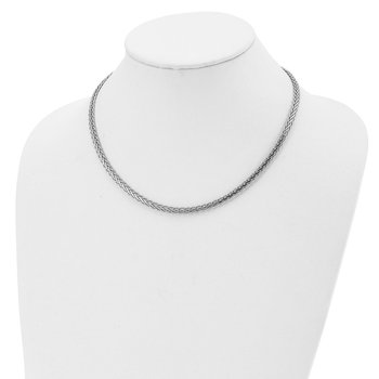 Leslie's Sterling Silver Flat D/C Spiga Necklace