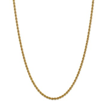 14k 3mm Regular Rope Chain