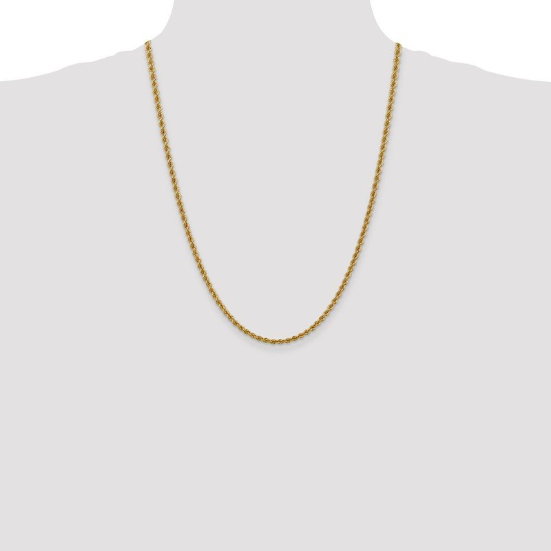 Quality Gold 14k 3mm Regular Rope Chain