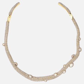 Tigris Torque Necklace, Gold tone, Gold-tone plated