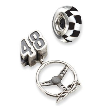 Sterling Silver 48 Jimmie Johnson NASCAR Bead