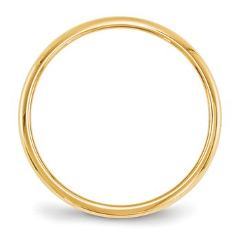 14KY 2mm Half Round Band Size 10