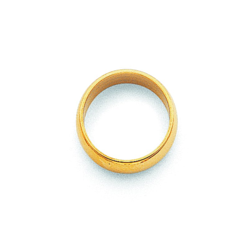 Quality Gold 14KY 2mm Half Round Band Size 10