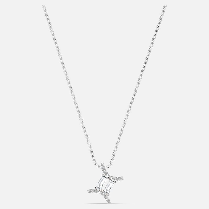 Swarovski Zodiac II Pendant, Gemini, White, Mixed metal finish