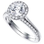 Mark Patterson Pave Diamond Halo Engagement Ring