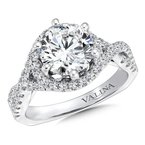 Valina Mounting with side stones .51 ct. tw., 2 ct. round center.