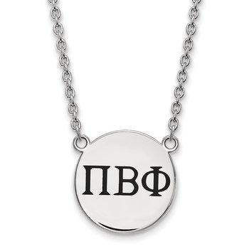 Sterling Silver Pi Beta Phi Greek Life Necklace
