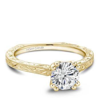 Noam Carver Vintage Engagement Ring B001-02YEA