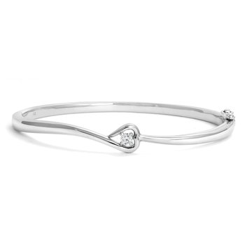 Heart Diamond Bangle