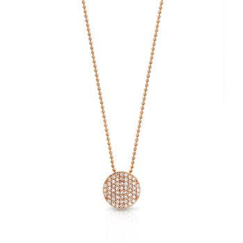 Rose gold diamond mini Infinity necklace