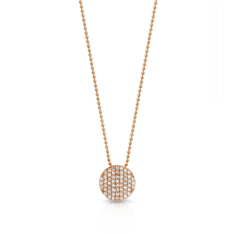 Phillips House Rose gold diamond mini Infinity necklace