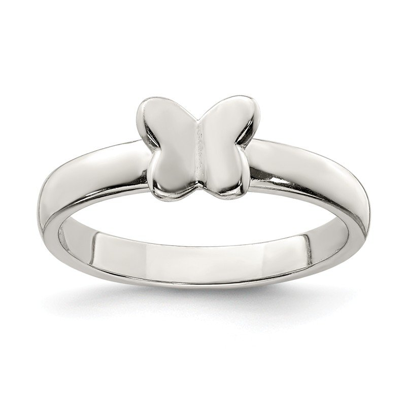 Quality Gold Sterling Silver Butterfly Ring