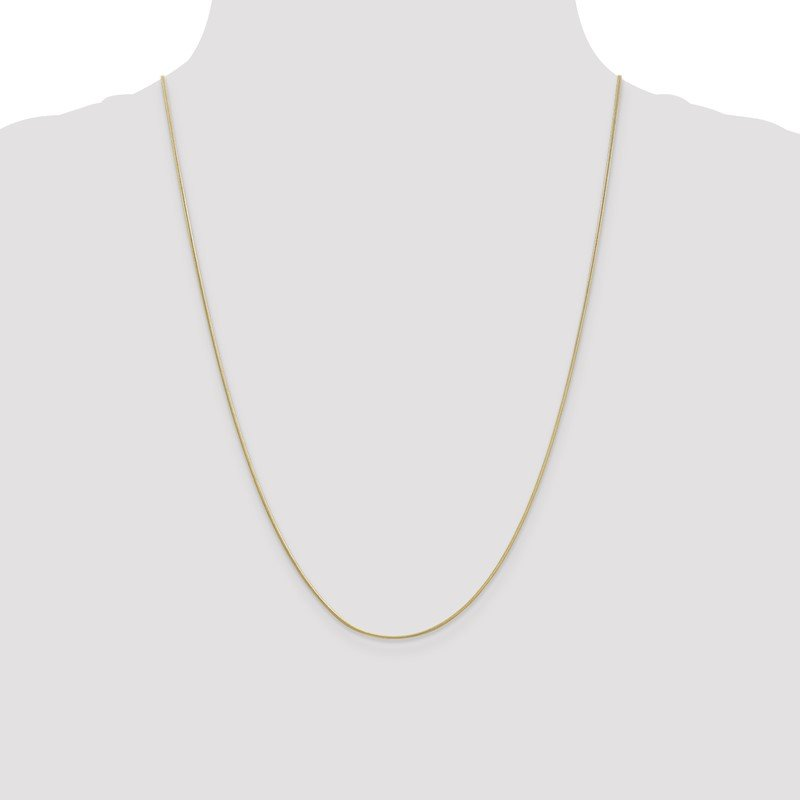 Quality Gold 10k .9mm Round Snake Chain