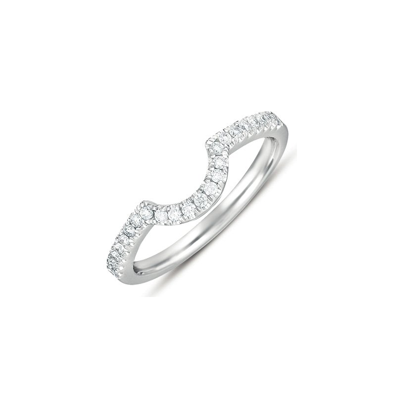 S. Kashi & Sons Bridal White Gold Matching Band for en7282