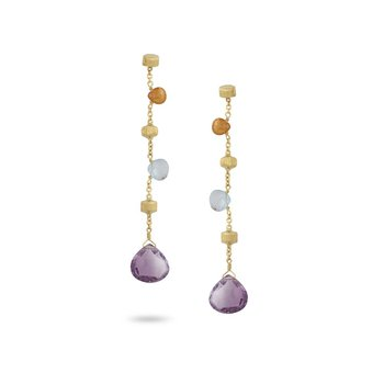 "Paradise Mixed Stone 2.25"" Drop Earrings"