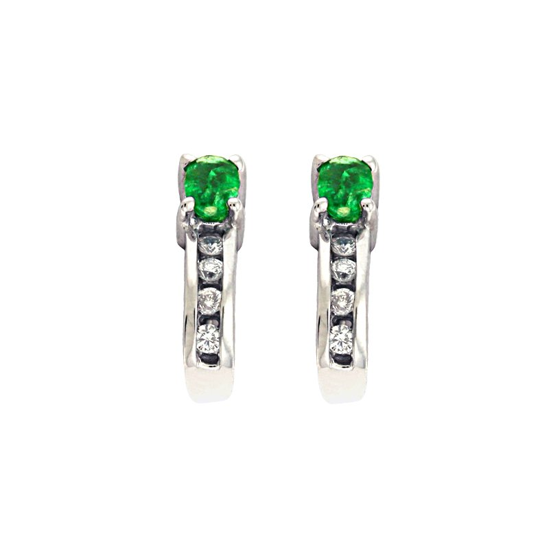 S. Kashi  & Sons Emerald & Diamond Earring