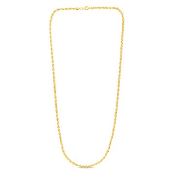 10K Gold 3.5mm Solid Diamond Cut Royal Rope Chain