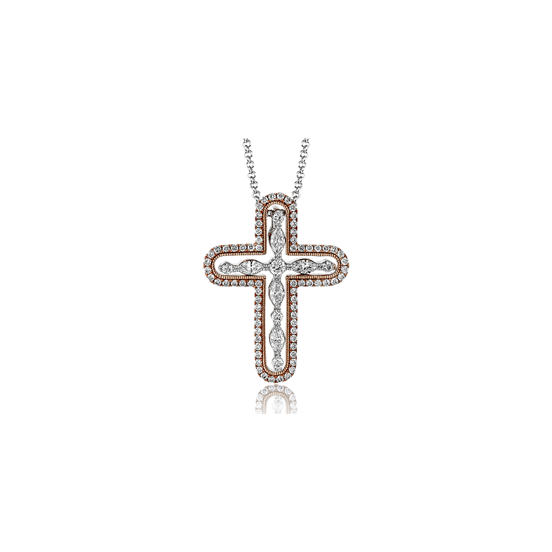 Simon G PP117 CROSS PENDANT